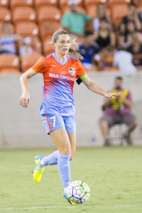 Kealia Ohia Houston Dash vs Portland Thorns at BBVA Compass Stadium, Houston, Texas