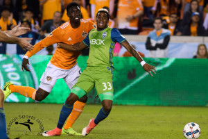 HOUSTON TX, November 21, 2017: MLS Western Conference Championship Leg 1: Houston Dynamo vs Seattle Sounders at BBVA Compass Stadium, Houston TX
